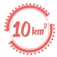 10 km2
