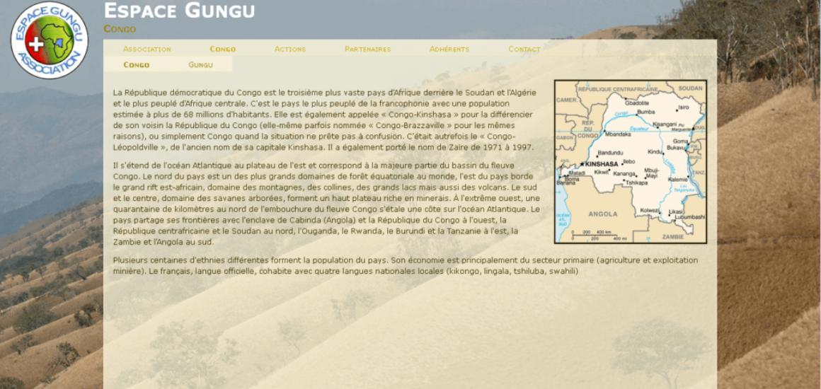 Espace Gungu - site développé par eTisse.ch