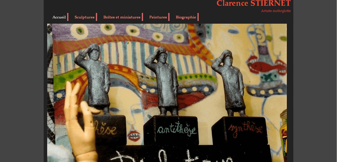 Clarence Stiernet - site développé par eTisse.ch