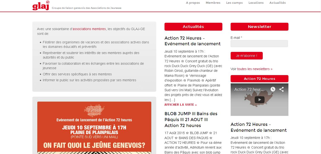 GLAJ GE - site web sous Wordpress mis en place par eTisse.ch