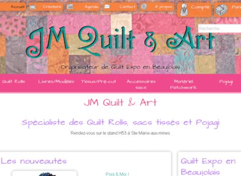JM Quilt & Art et Quilt Expo en Beaujolais - site web sous Wordpress mis en place par eTisse.ch
