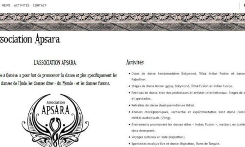 Association Apsara - site web sous Wordpress mis en place par eTisse.ch