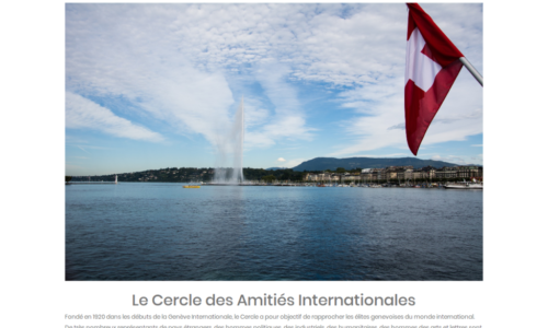Le Cercle des Amitiés Internationales - prestations web, site Internet - etisse.ch, Genève