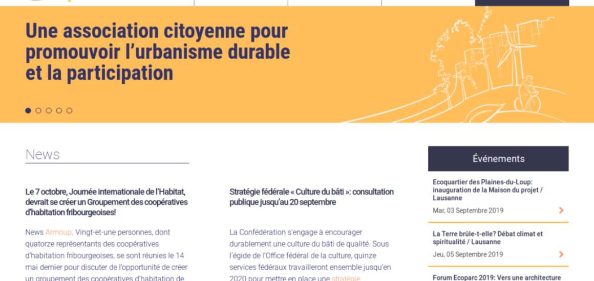 Association écoquartier - prestations web, etisse.ch, Genève