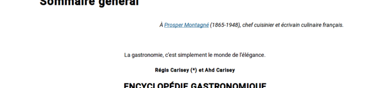 Gastronomiac, encyclopédie gastronomique - prestations site Internet - etisse.ch, Genève