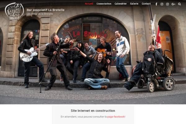 Bar associatif la Bretelle - création de site Internet avec WordPress - etisse.ch, Genève
