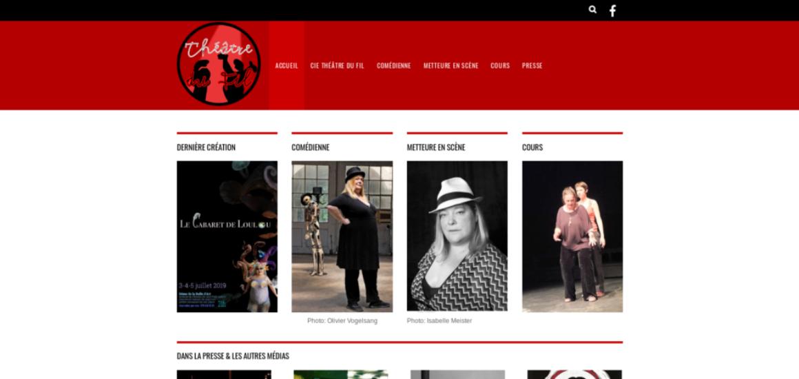 Loulou Compagnie Théâtre du Fil – Loulou la Cie Théâtre du FIl - client site Internet avec WordPress, etisse.ch, Genève