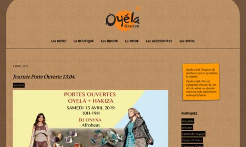 OYELA-Boutique-Geneve - Design site Internet par etisse.ch, Genève