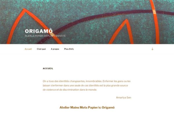 Origamô – PLiER LE PAPiER DÉPLiER L'iDENTiTÉ - site internet sous Wordpress mis en place par eTisse.ch