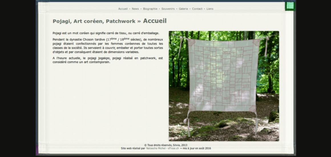 Pojagi, Art coréen, Patchwork - Site web réalisé à la main, etisse.ch