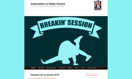 Association Le Rado-Versoix - développements et ajustements du site Internet - etisse.ch, Genève
