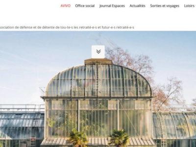 AVIVO Genève - site web sous Wordpress mis en place par eTisse.ch