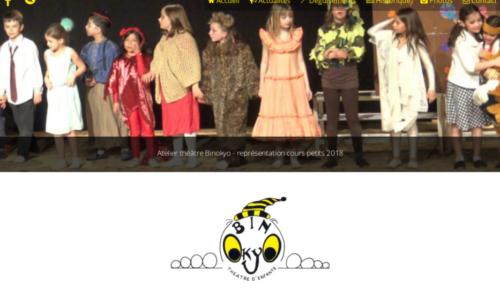 Atelier théâtre Binokyo - site web sous Wordpress mis en place par eTisse.ch