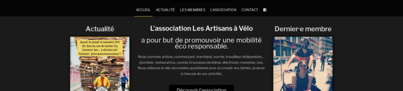 Réalisation WordPress : Les Artisans à Vélo, pour une mobilité éco responsable à Genève