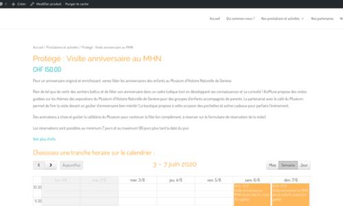 Mise en place d'un gestionnaire de réservation de ressources · etisse.ch, solutions pour votre site Internet, Genève