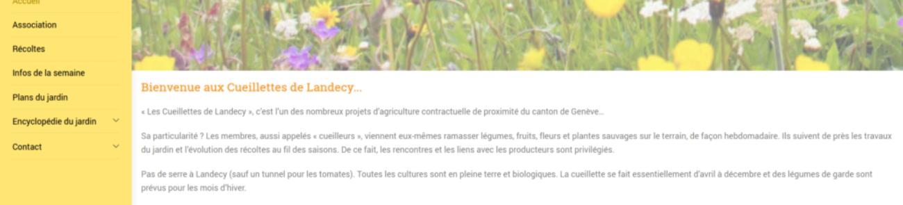 Cueillettes de Landecy - création de site Internet avec WordPress - etisse.ch, Genpve