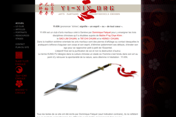 YI-XIN - création de site Internet avec WordPress - etisse.ch, Genpve