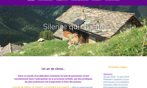 Silence qui Chante - mise en place et ajustements web - etisse.ch, Genève