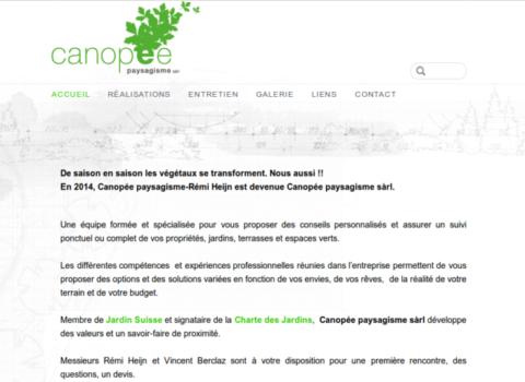 canopee paysagisme - site web sous Wordpress mis en place par eTisse.ch
