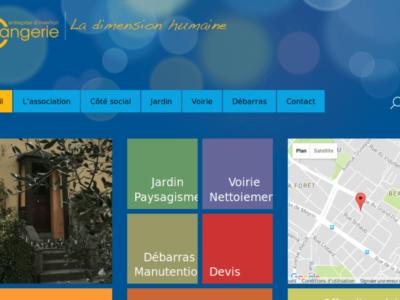 l'Orangerie - site web sous Wordpress mis en place par eTisse.ch