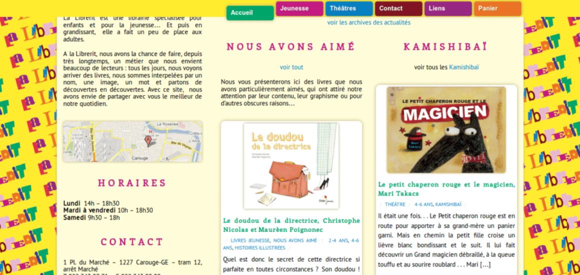 La Librerit - site web sous Wordpress mis en place par eTisse.ch