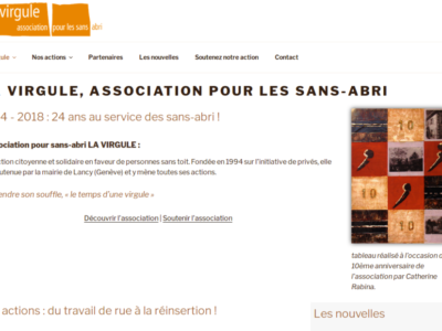 la virgule - site web sous Wordpress mis en place par eTisse.ch