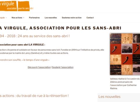 la virgule - site web sous Wordpress mis en place par eTisse.ch