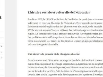 lhisce - site web sous Wordpress mis en place par eTisse.ch