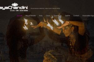 mayachandini - site web sous Wordpress - interventions eTisse.ch