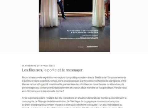 theatredelesquisse - site web sous Wordpress mis en place par eTisse.ch